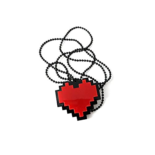 Pixels Heart Necklace - Undertale cosplay of Frisk - 24