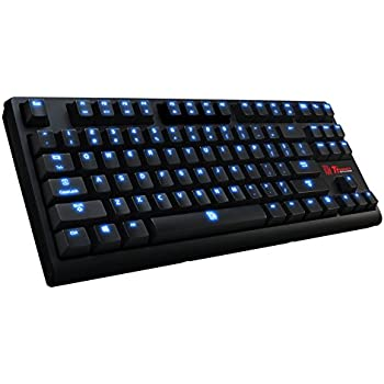 Thermaltake Tt e SPORTS Poseidon ZX Tenkeyless Brown Switches with 4-Level Brightness Blue LED Mechanical Gaming Keyboard KB-PZX-KBBLUS-01