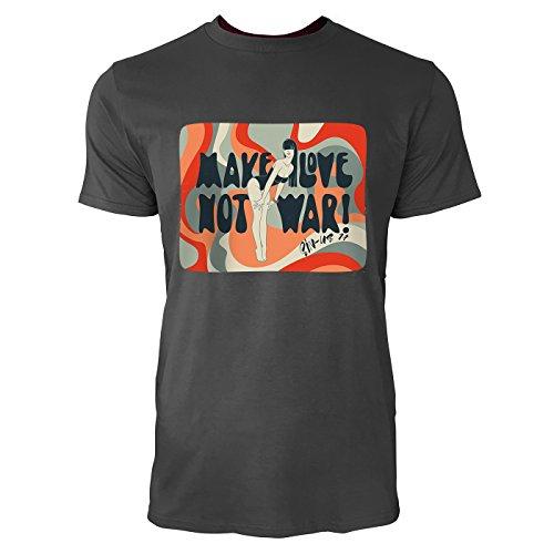 SINUS ART ® Frau im Badeanzug – Make Love Not War! Herren T-Shirts in Smoke Fun Shirt mit tollen Aufdruck