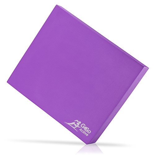 Go Go Active Balance Pad (Thick) – Exercising Training Mat for Therapy, Yoga, Pilates, CrossFit and Fitness – Non-Skid Bottom, Ecofriendly, Double-Sided – Home or Gym Use – XL 19x15'' (Purple)