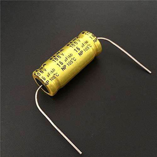 2pcs 16uF 100V Elna NP 12.5x30mm 100V16uF Bipolar Axial Aluminum Electrolytic Capacitor