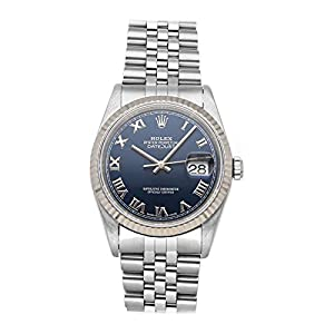 Best Epic Trends 41Sf24yfvUL._SS300_ Rolex Datejust Mechanical (Automatic) Blue Dial Mens Watch 16234 (Pre-Owned)