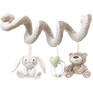 Baby Early Learning Doll Hanging Toys Baby Spiral Activity Stroller Car Seat Pram Crib Toy with Ring Bell Wrap Around 0…