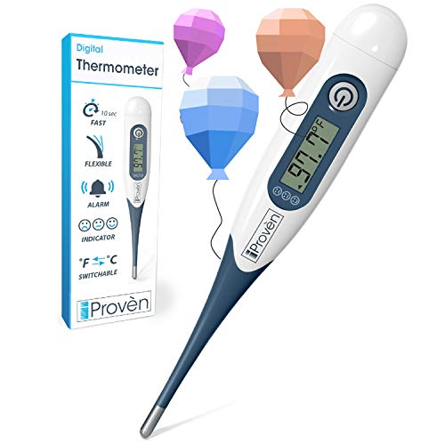 Best Digital Medical Thermometer (Baby and Adult Termometro), Accurate and Fast Readings - Oral and Rectal Thermometer for Children Babies - DT-R1221AWG with Fever Indicator - 2019 High Quality