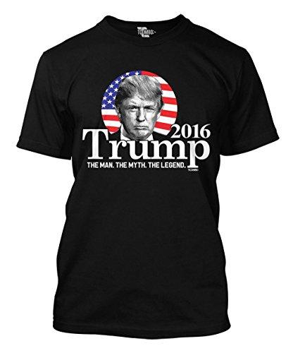 Tcombo 2016 Trump - The Man The Myth The Legend Men's T-shirt (Large, Black)