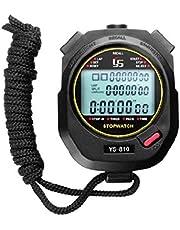Huwaioury, tre file di 100 cronometro, cronometro, cronometro e allenamento sul campo, bianco e nero, 2 colori opzionale timer di corsa