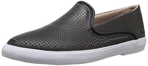 Lacoste Women's Cherre 216 1 Flat, Black/Natural, 9.5 M US