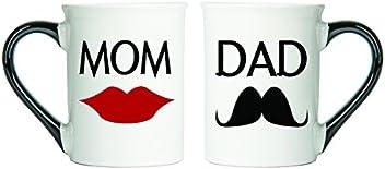 Tumbleweed Mom & Dad Mugs Set Of Two Coffee Cups - Ceramic Mugs - Large 18 Oz Coffee Cups
