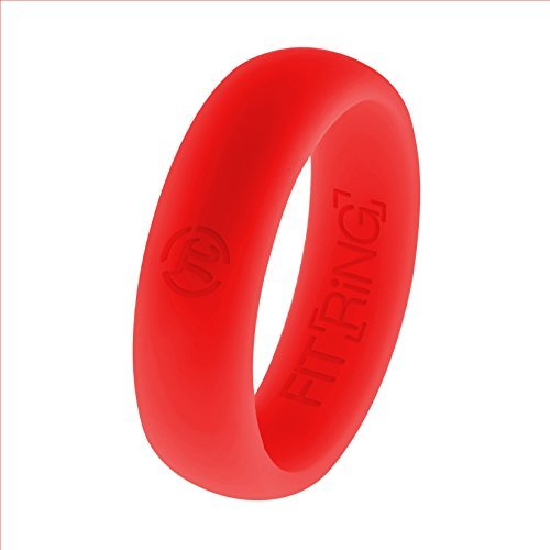 Fit Ring Women's Silicone Wedding Ring Powered by Arthletic(Black, Blue / Aqua, Pink, Purple, Green, Red, White) Quality Silicone Wedding Ring Wedding Band from Arthletic Fit Ring Women's Collection