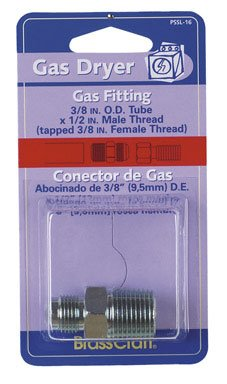 Brass Craft PSSL-16 Gas Dryer Gas Fitting (Brass Craft Gas Dryer)
