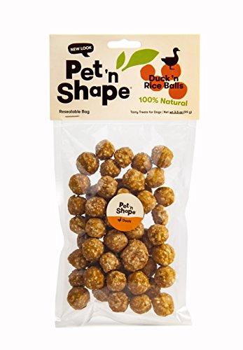 Pet 'N Shape Duck 'N Rice Balls Natural Dog Treats, ()