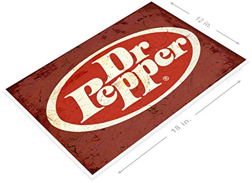 Poster A775 Dr Pepper Rustic Retro Cola Soda Sign Kitchen Cottage Farm 12 x 18