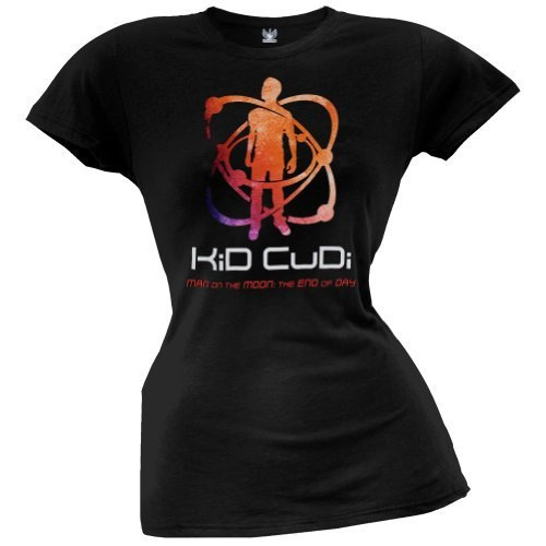 Kid Cudi - Womens Atomic Kudi Juniors T-shirt X-large Black