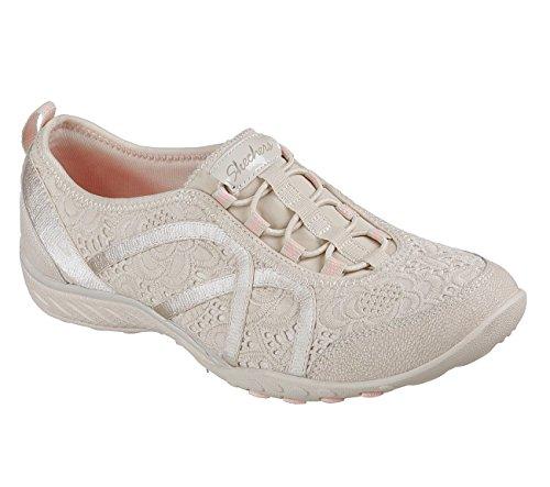 Breathe Basses Taupe Eyelet Mesh Femme Fortune Skechers Sneakers Easy dInwT