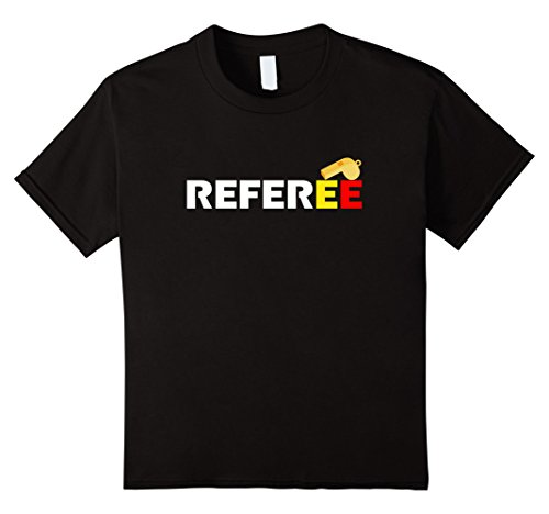 Girl Soccer Referee Costume (Kids Halloween Whistle Referee Shirts 12 Black)