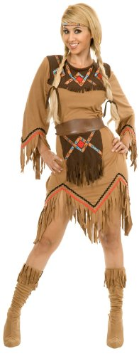[Charades Women's Sacajawea Indian Maiden Costume Set, Tan, X-Large] (Indian Costumes For Women)