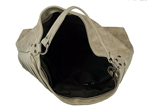 ZETA SHOES Borsa donna in vera pelle tracolla made in italy MainApps Tortora
