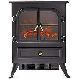 1500 watt free Standing Lifesmart Log Electric portable Fireplace Space Heater wood Infrared Quartz