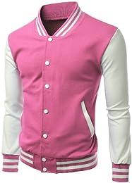 Amazon.com: Pink - Varsity Jackets / Lightweight Jackets: Clothing