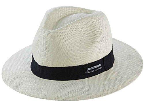 Original Panama Jack Matte Toyo Straw Safari Sun Hat,Ivory, L/XL