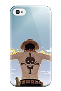 For Iphone 4/4s Premium Tpu Case Cover Ace With Whitebeard Tattoo Protective Case