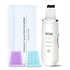 Do you suffer from greasy, dead, wrinkled skin and blackheads? GUGUG skin scrubber provides high vibrations, allowing water molecules to seep into your skin pores in order to wash out oil, dead skin cells and dirt.Product Features:Lifting Mod...