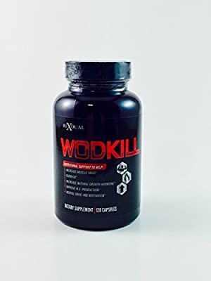 WODKILL Pre Workout Pump Enhancer and Natural Thermogenic with Agmatine Sulfate 500mg, Garcinia Fruit Extract 400mg, L-Citrulline 350mg, Caffeine 200mg, Guarana, and Green Tea. 60 Servings