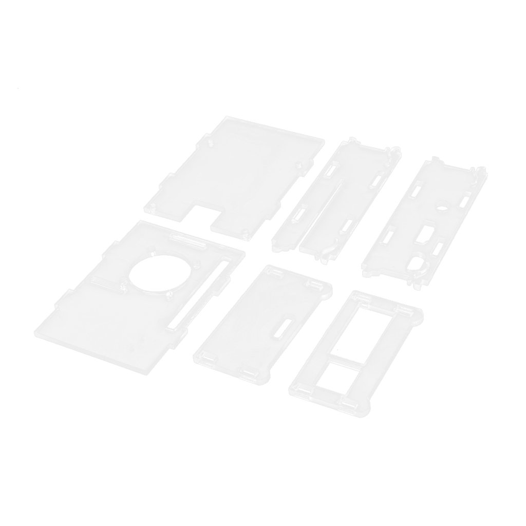 Clear Shell Case Enclosure Fixed Lid 5 Sink for Raspberry Pi 2 Model B+