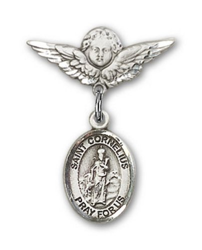 Icecarats Créatrice De Bijoux En Argent Sterling St. Cornelius Charme Ange Pin Badge 7/8 X 3/4