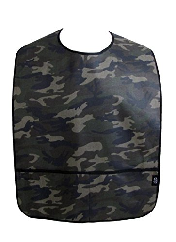 Adult Clothing Protector Bib with Front Pockets (Camo)