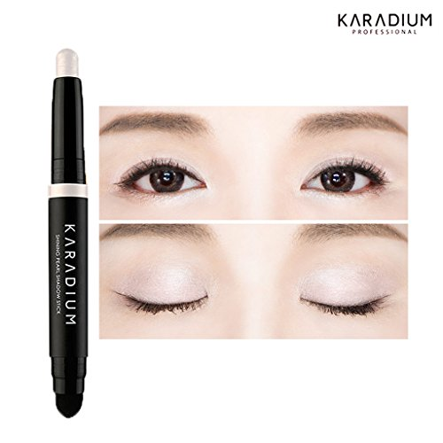 KARADIUM Shining Pearl Smudging Eye Shadow Stick, 1.4 g, #1 Snow White