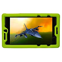 Bobj Rugged Case for NVIDIA Shield Tablet K1 - BobjGear Custom Fit - Patented Venting - Sound Amplification - BobjBounces Kid Friendly (Gotcha Green)