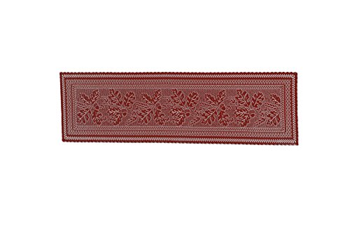 - Heritage Lace Dark Paprika Oak Leaf Table Runner