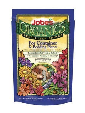 (Jobes Organics® Fertilizer Spikes for Container and Bedding plants 50 Pack)