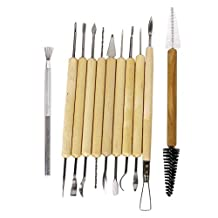 Haobase 11 pcs Pottery Clay Sculpture Carving Tool Set