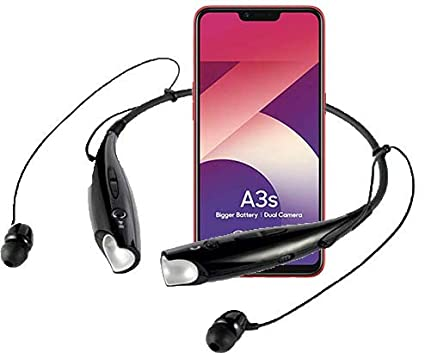 b2eb3f1eeb7 Amazon.in: Buy SMM Bluetooth Headphone with Neckband, Stereo Sound and Hands-Free  Mic for Oppo A3s (Black) Online at Low Prices in India   SMM Reviews & ...