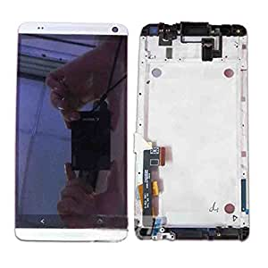 UFIXOK Complete LCD Display Touch Screen Glass Panel Digitizer Assembly + Frame Replacement Repair Parts For HTC One Max 803s 8088 809d Silver