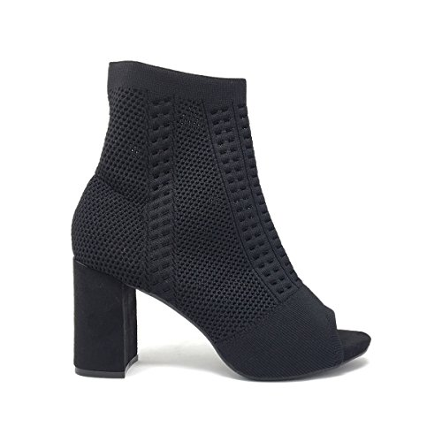 Sandalias Vestir Para de Martini Roberta Tela Negro Negro de Mujer 5qw6Fwx7T4
