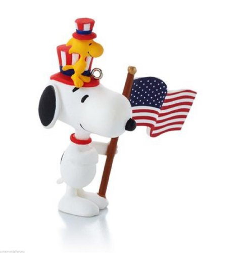 Happiness Is Peanuts All Year Long - #12 - Snoopy and Woodstock - Patriotic - Pals Patriotic