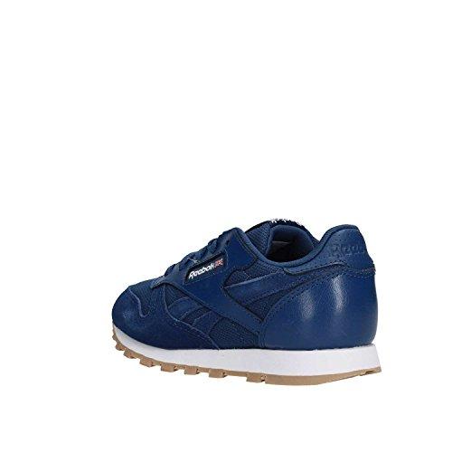 Reebok CL Estl, Zapatillas de Running Para Niños Azul (Washed Blue/White 000)