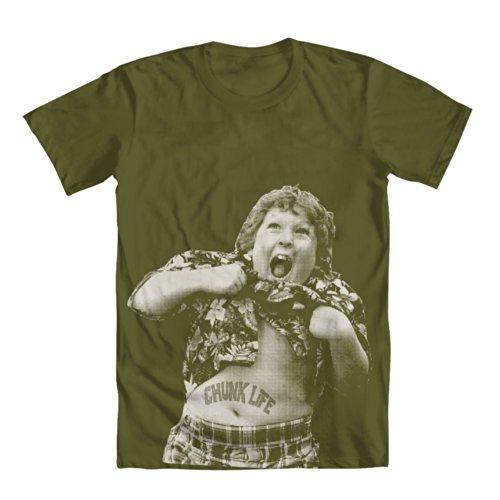 GEEK TEEZ Chunk Life Men's T-Shirt Green XX-Large -