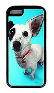 iphone 5C case,custom iphone 5C case,TPU Material,Drop Protection,Shock Absorbent,Customize your own cell phone case pattern,black case,White the little black dog