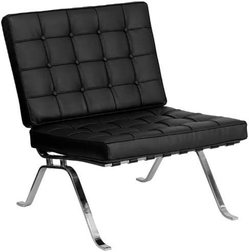 Flash Furniture HERCULES Flash Series Black LeatherSoft Lounge Chair