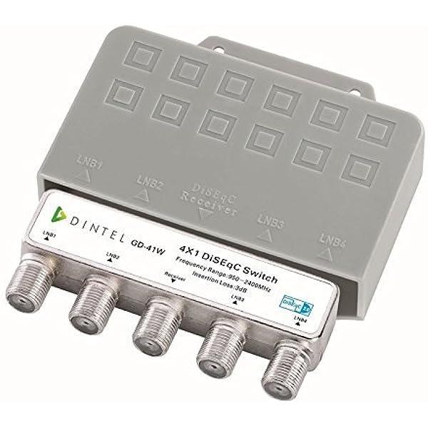 Dintel - Conmutador Diseqc 4x1 de 950-2400 MHz Exterior ...