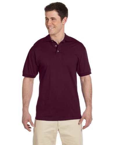 - Jerzees Men's Heavyweight Welt Knit Collar Jersey Polo Shirt, Maroon, XX-Large