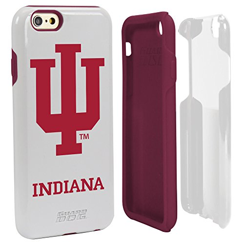 NCAA Indiana Hoosiers Hybrid IPhone 6 Case, White, One Size