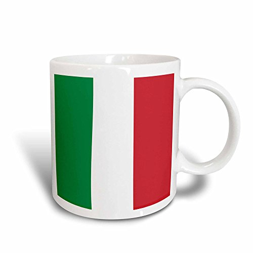 3dRose mug_158341_3 Flag of Italy Square Italian Green White Red Vertical Stripes European Europe World Travel Magic Transforming Mug, 11-Ounce