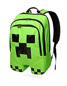 Minecraft Creeper Polyester Backpack Shoulder Backpack Rucksack