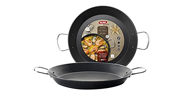 Amazon.com: IBILI Gandia Paella Pan, 36 x 36 x 6 cm, Black ...