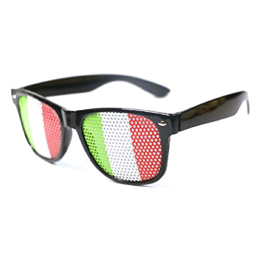 Ponce Fashion National Flag Party Glasses Sticker With Hole Adult Costume -